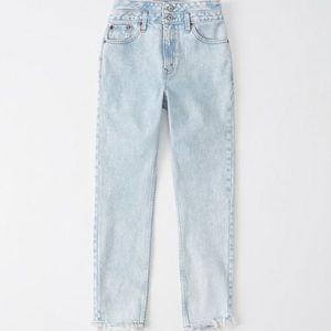 NWT A&F double waist high rise mom jeans 26 2R
